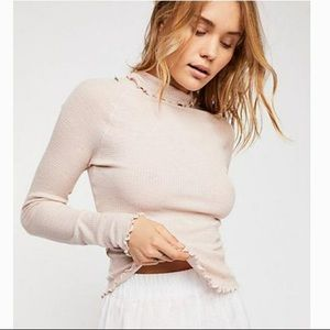 Free People • Make It Easy Blush Thermal Crop
